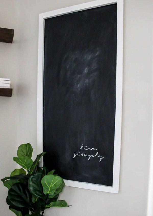 Easy DIY Modern Farmhouse Chalkboard