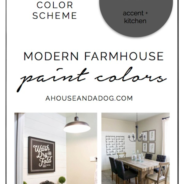 Whole House Color Scheme - Modern Farmhouse Paint Colors | designedsimple.com