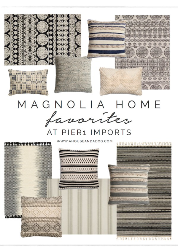Magnolia Home Rugs + Pillows at Pier 1