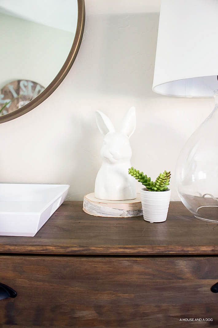 Spring Home Tour   5 Ways to Decorate for Spring without Shopping   designedsimple.com