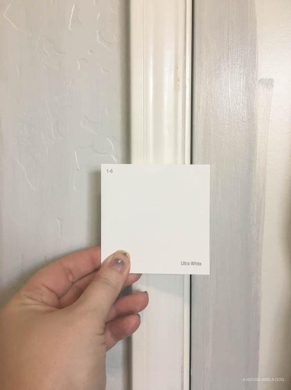 One Room Challenge - Master Bathroom: Week 2 - Gray Walls & Doors
