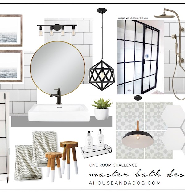 One Room Challenge – Master Bath: Week 3 – Faucets & Fixtures