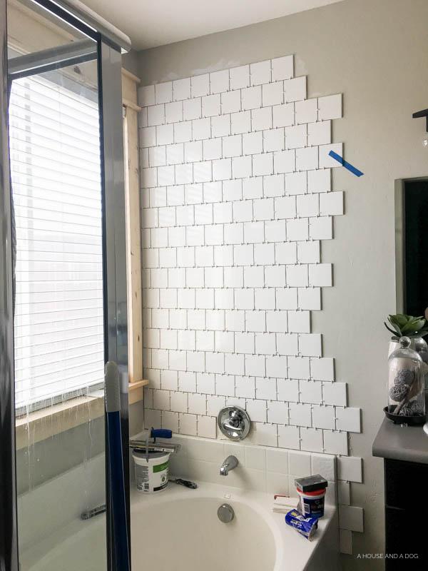 One Room Challenge – Master Bath: Week 5 – Wall Tile