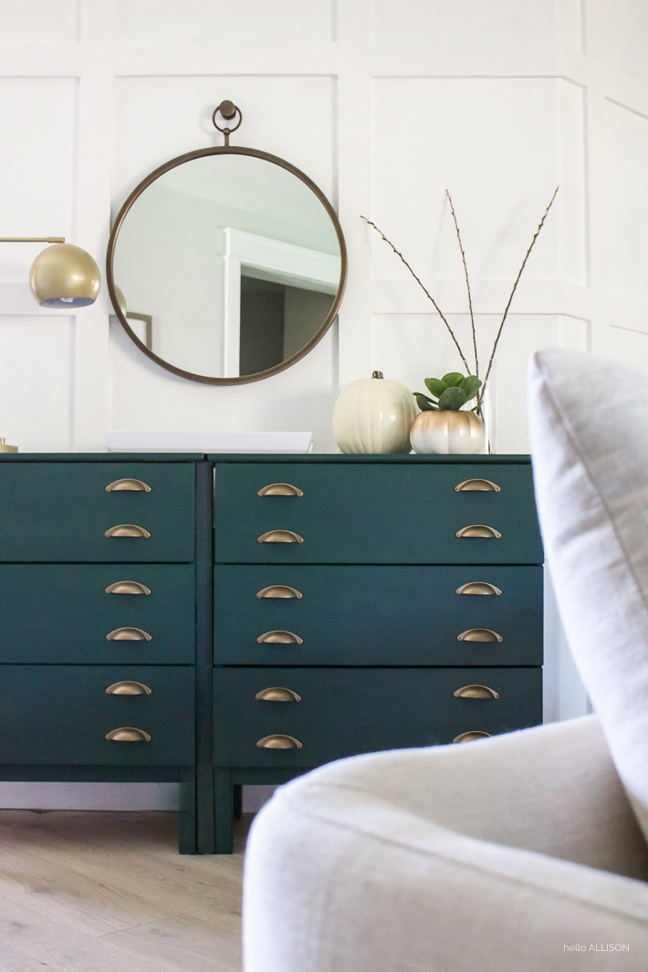 Painted Ikea Dresser - Entryway Console Table | designedsimple.com