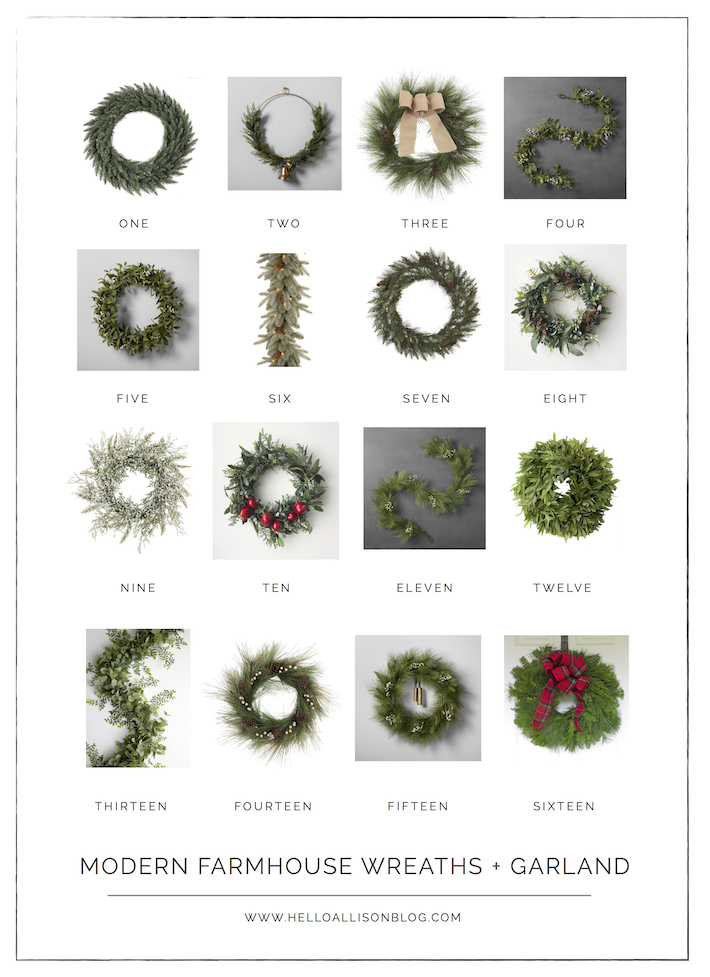Modern Farmhouse Christmas Wreaths | designedsimple.com
