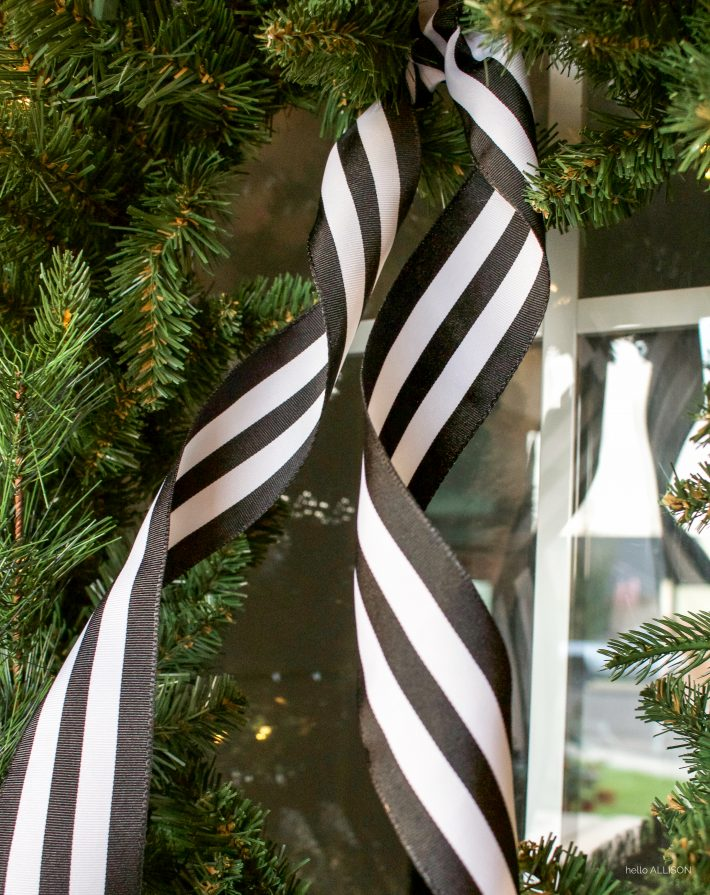 Black and White Christmas Porch | designedsimple.com