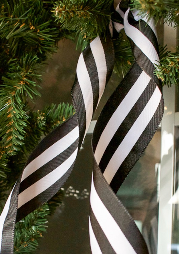 Black + White Christmas Porch