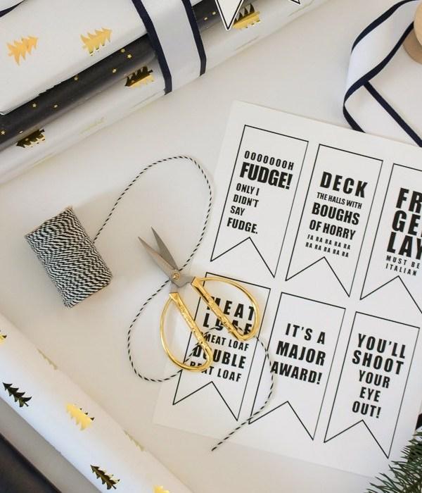 A Christmas Story Printable Gift Tags