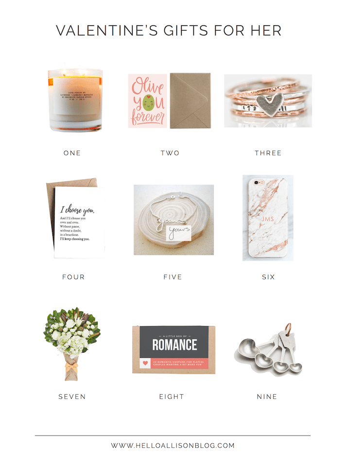 Valentine's Gift Guide for Her | designedsimple.com