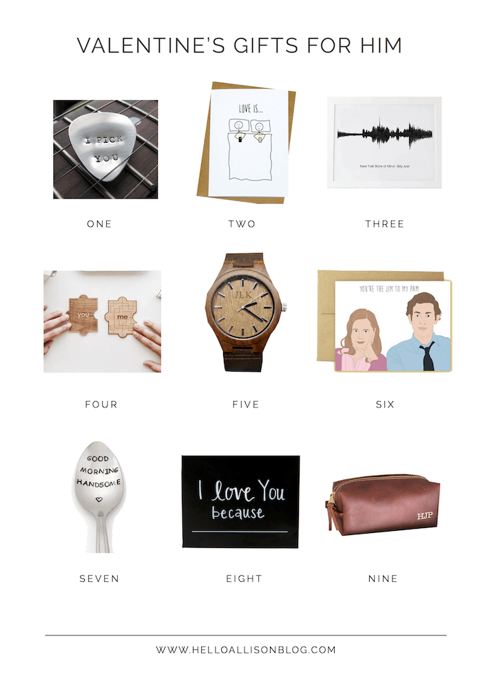 Valentine's Gift Guide for Him | designedsimple.com