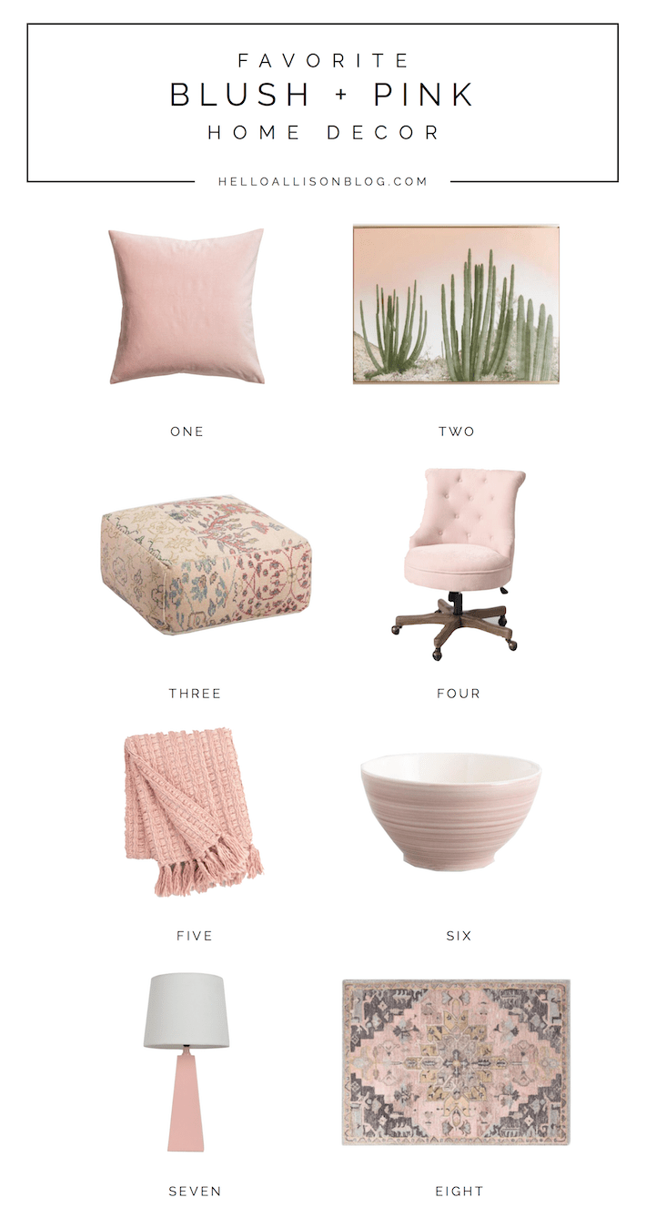 Favorite Blush + Pink Home Decor | designedsimple.com