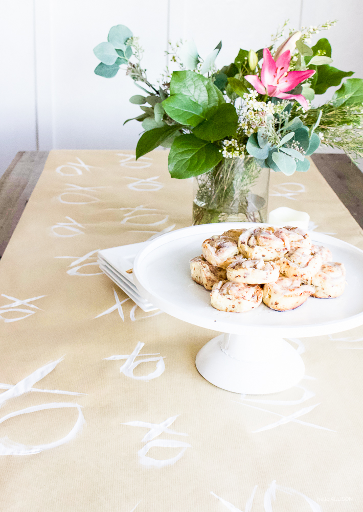 Simple Valentine's Day Brunch + Heart Cinnamon Rolls | designedsimple.com