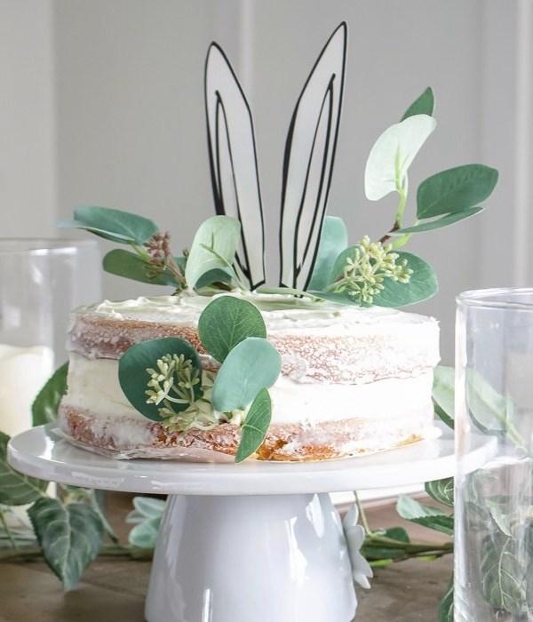 Bunny Ear Cake + Easter Tablescape