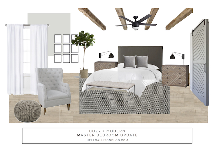 Master Bedroom Refresh Design Board | designedsimple.com