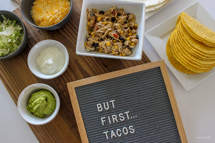 Easy Chicken Tacos from the Crockpot! | designedsimple.com