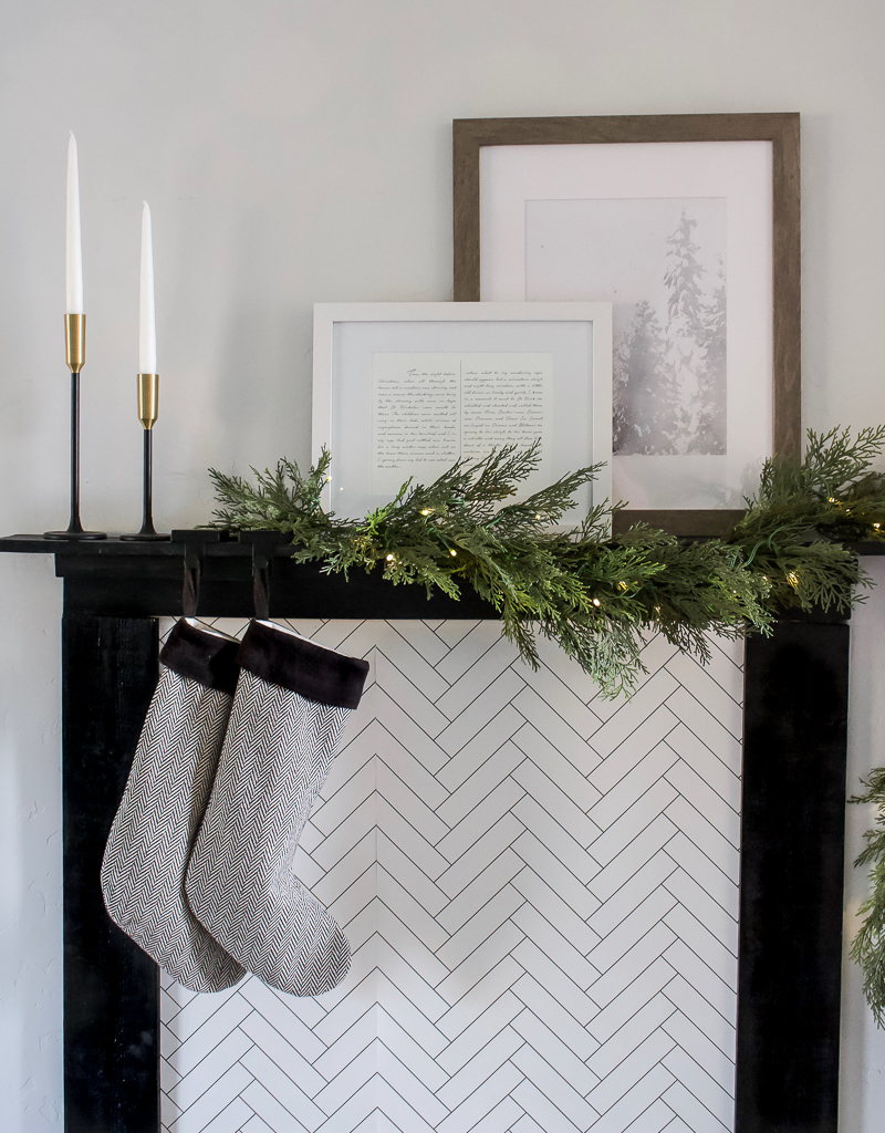 DIY Faux Fireplace Mantel | designedsimple.com