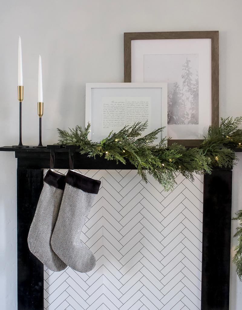 DIY Faux Fireplace Mantel | designedsimple.com