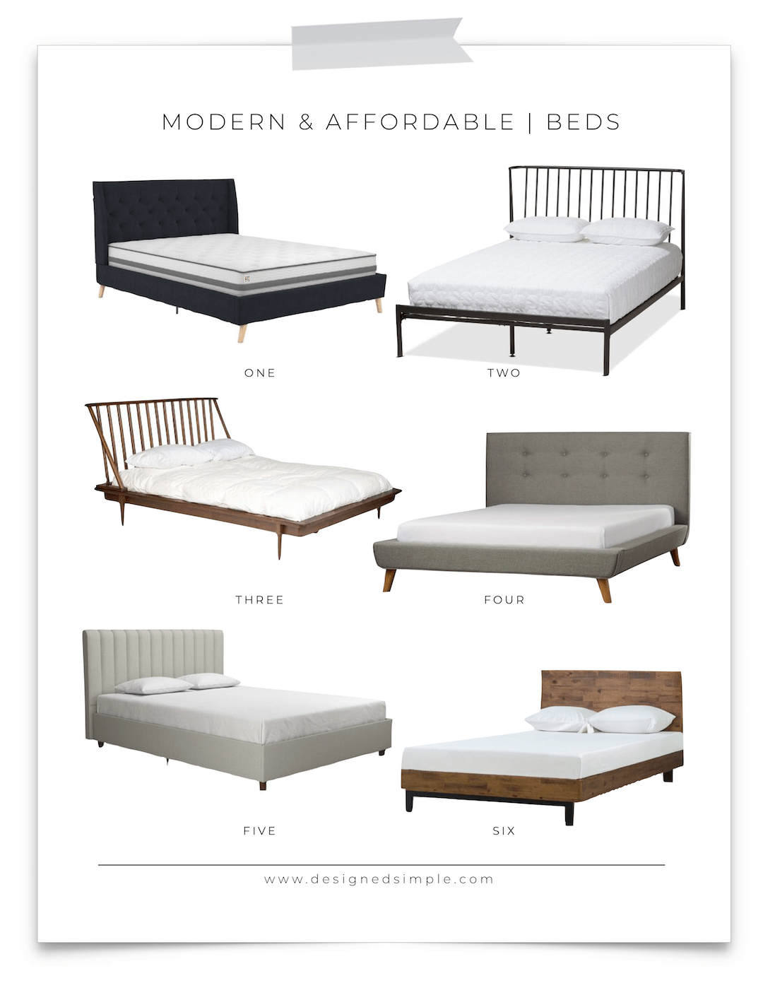 Modern and Affordable Beds | Platform Beds | Designed Simple | designedsimple.com