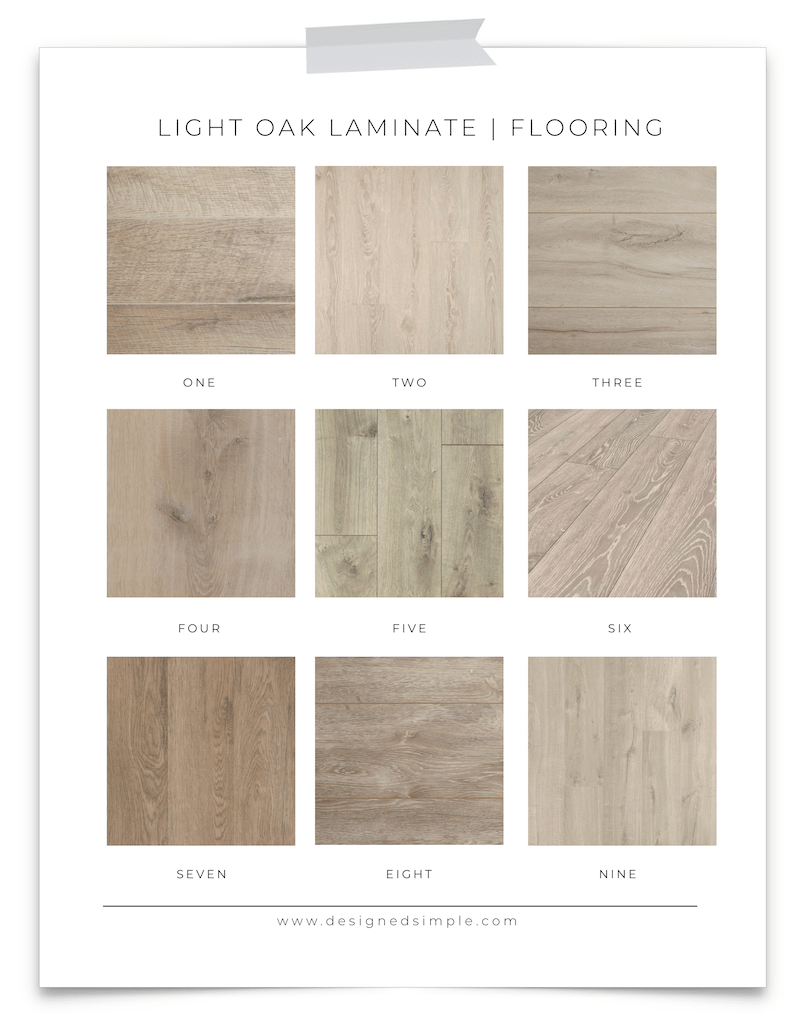 Light Oak Laminate Flooring Favorites | Sharing my top 9 choices for light colored laminate flooring! | Designed Simple | designedsimple.com