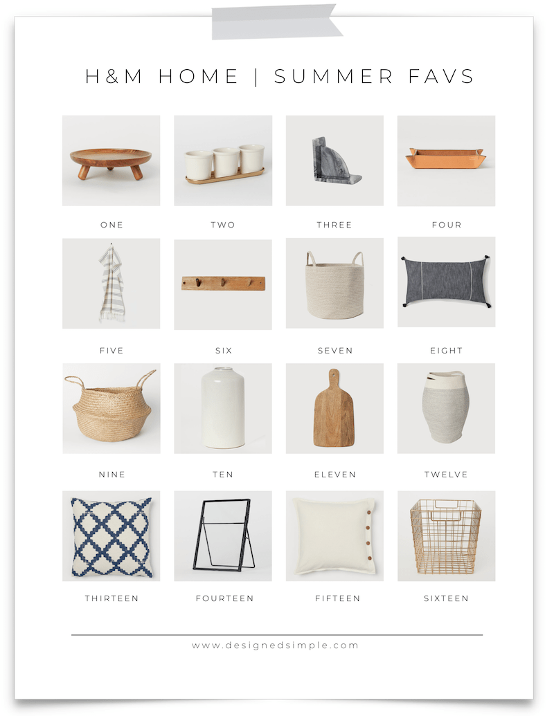H&M Home Summer Favorites | Shop affordable home decor, textiles, pillow covers and more! | Designed Simple | designedsimple.com