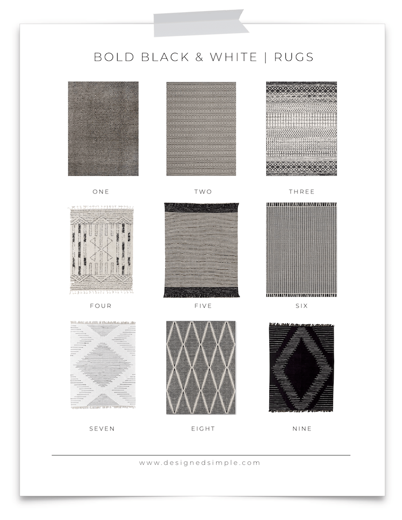 Black & White Rugs | Designed Simple | designedsimple.com