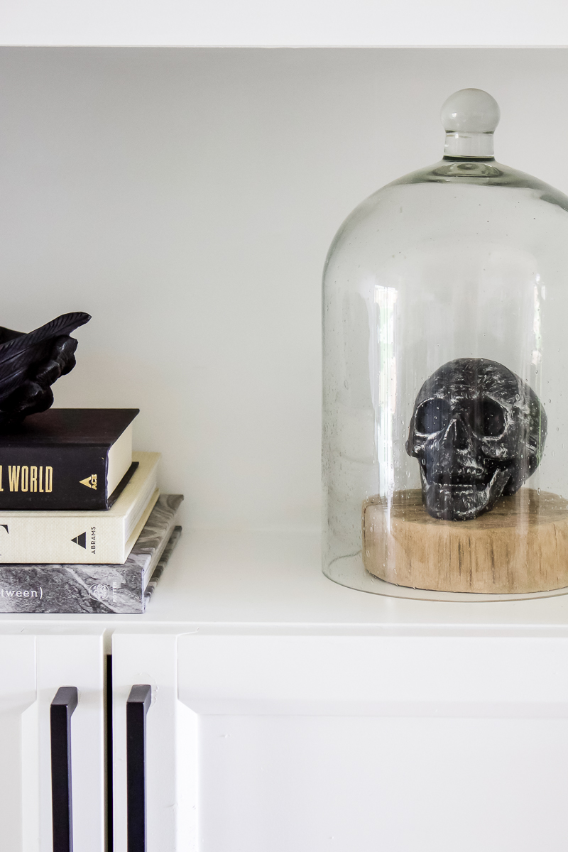 Simply Spooky Shelves | Halloween Home Decor and Shelves | Designed Simple | designedsimple.com