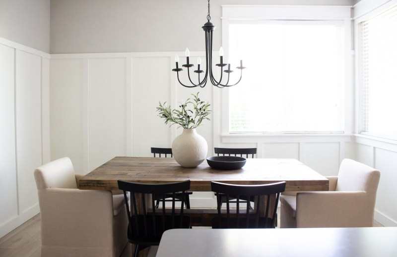 West Elm Emmerson Dining Table Review | Sharing my honest thoughts on our dining table! Would I buy it again? | Designed Simple | designedsimple.com