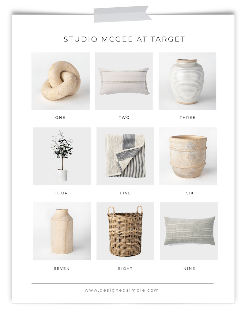 Studio McGee at Target | The best collaboration ever! Sharing a few of the pieces I am buying! | Designed Simple | designedsimple.com