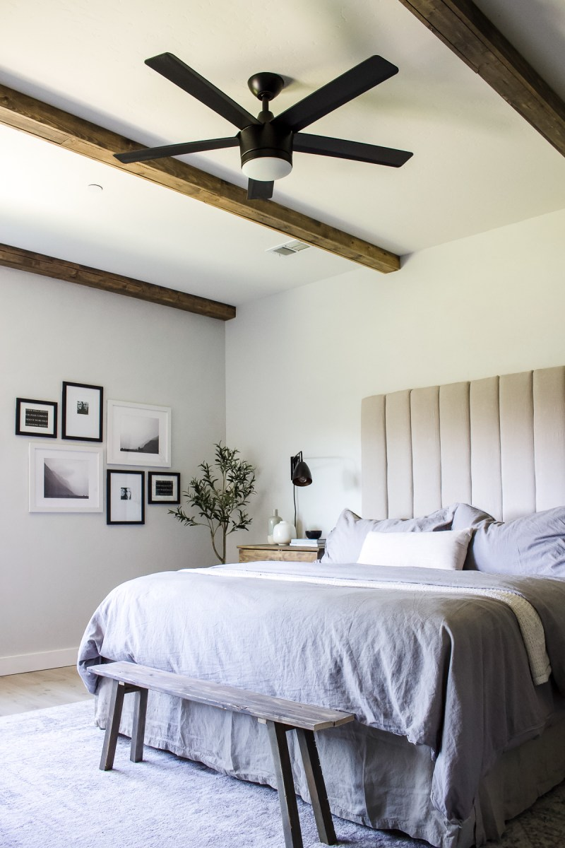 Designed Simple House Tour | California Casual Master Bedroom | designedsimple.com