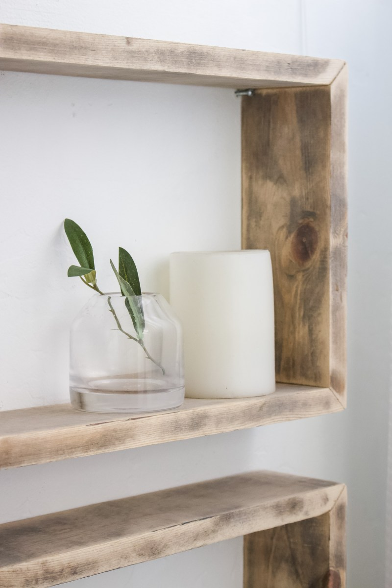 DIY Simple Box Shelves | Designed Simple | designedsimple.com