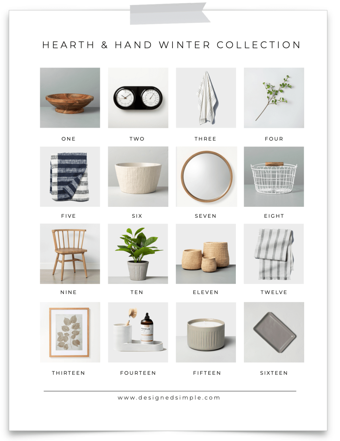 Sharing my favorites from the Hearth & Hand winter collection at Target. Fresh, simple, and clean - I'm ready to decorate in the new year! | Designed Simple | designedsimple.com