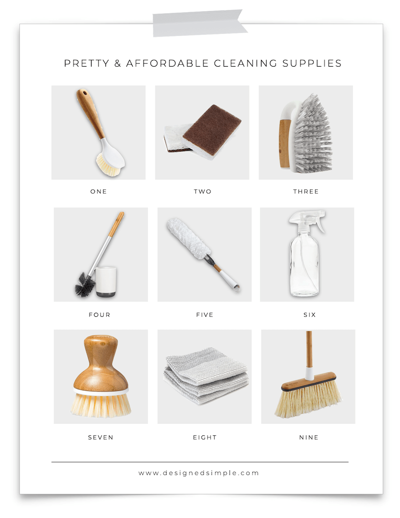 Sharing my favorite pretty and affordable cleaning supplies! Cleaning is much more fun when products make it easy and accessible.   Designed Simple   designedsimple.com