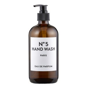SHOP NOW! Amber glass hand wash bottle with simple label. Just add your favorite soap! Easy to refill & adds style to your kitchen or bath.| Designed Simple