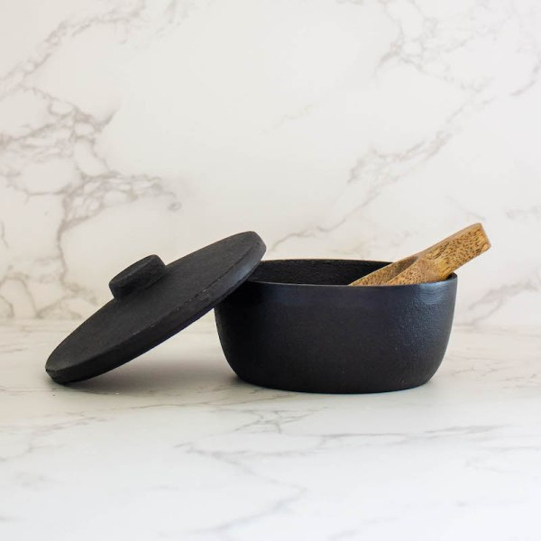 SHOP NOW - This cast iron bowl is so versatile! Use it in the kitchen for snacks. Or use it to hold keys or change on a console table. | Designed Simple