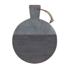 SHOP NOW! Add style to your kitchen with this black marble & wood board - perfect for display on the kitchen counter or hosting!| Designed Simple