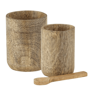 SHOP NOW! These wood sugar bowls are perfect for kitchen - stylish & functional. Display on the counter, shelf, or near the coffee station. | Designed Simple