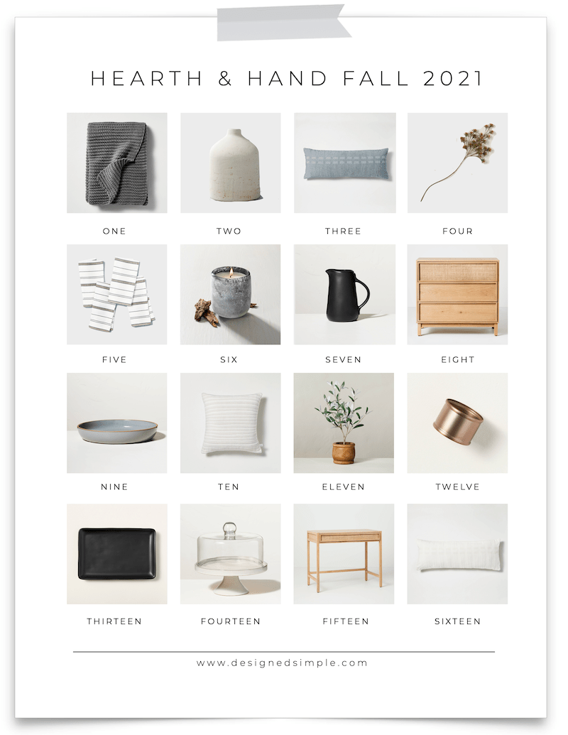 From candles to throws, to dining furniture and kitchen decor - I'm sharing all of my favorites from the Hearth & Hand Fall 2021 collection! | Designed Simple | designedsimple.com