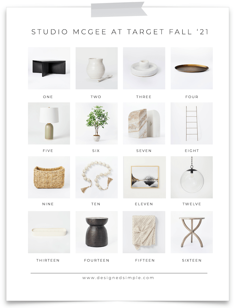 From lamps to throw pillows - I'm sharing all my favorites from the Studio McGee at Target Fall 2021 collection! | Designed Simple | designedsimple.com