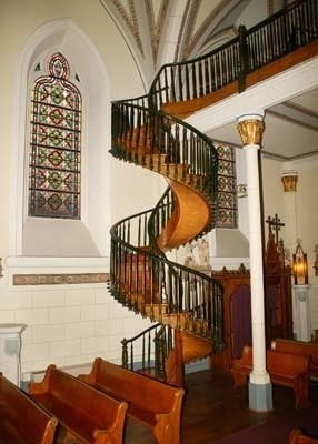 Amazing Stairs The Miraculous Staircase Of Loretto Chapel   Chapel With Spiral Staircase   Catholic Church   Stairway   Miraculous   Choir Loft   Sante Fe