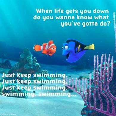 Dory and Nemo Just Keep Swimming
