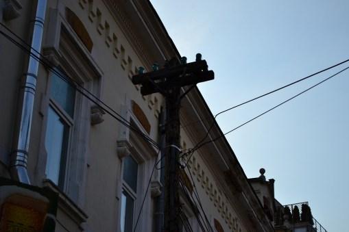 ARCEN - Cu bastonul prin Bucuresti editia a 7-a - un stalp de telegraf original