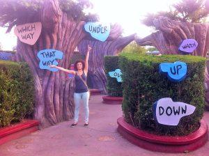 Disneyland Paris - Labirintul lui Alice - Directii
