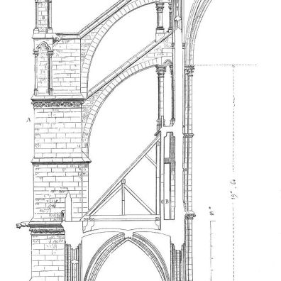 Flying buttress (arc butant)
