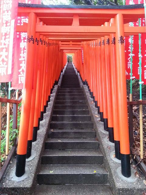 Japonia - Intrarea într-un templu shinto
