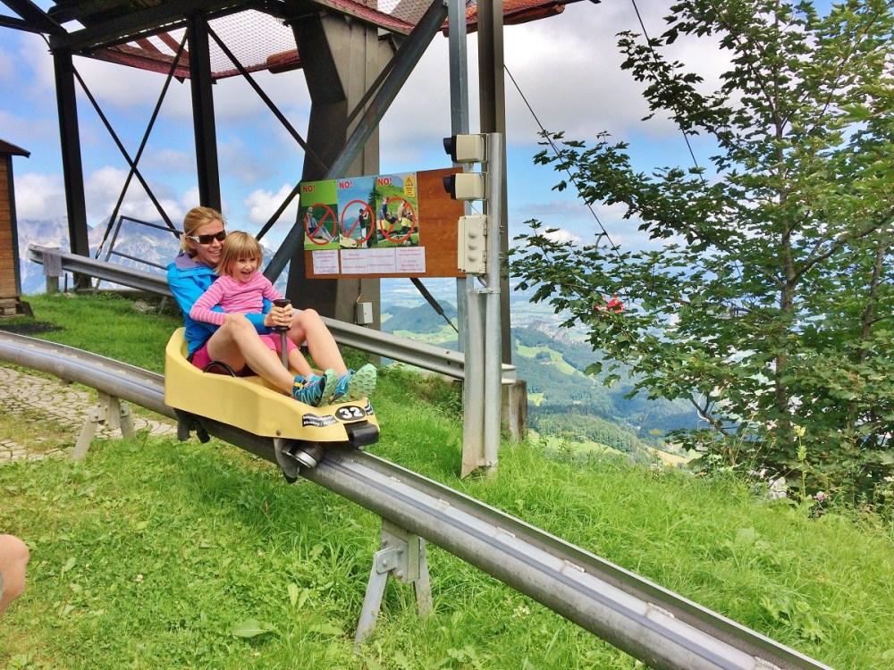 Alpine slide în Hallein, Austria
