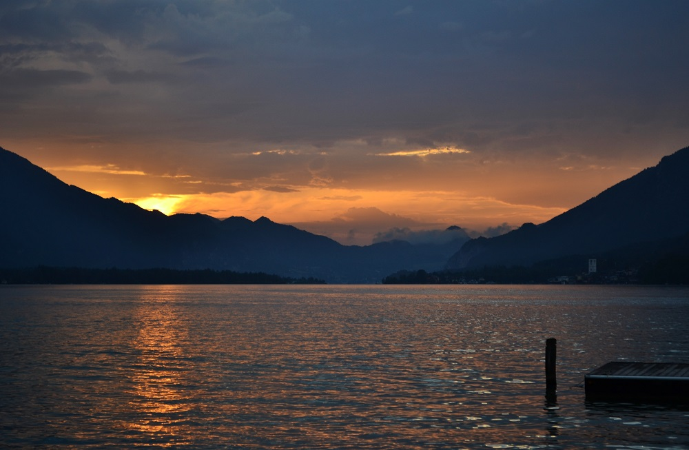 Wolfgangsee lake in Strobl, Salzkammergut, Austria