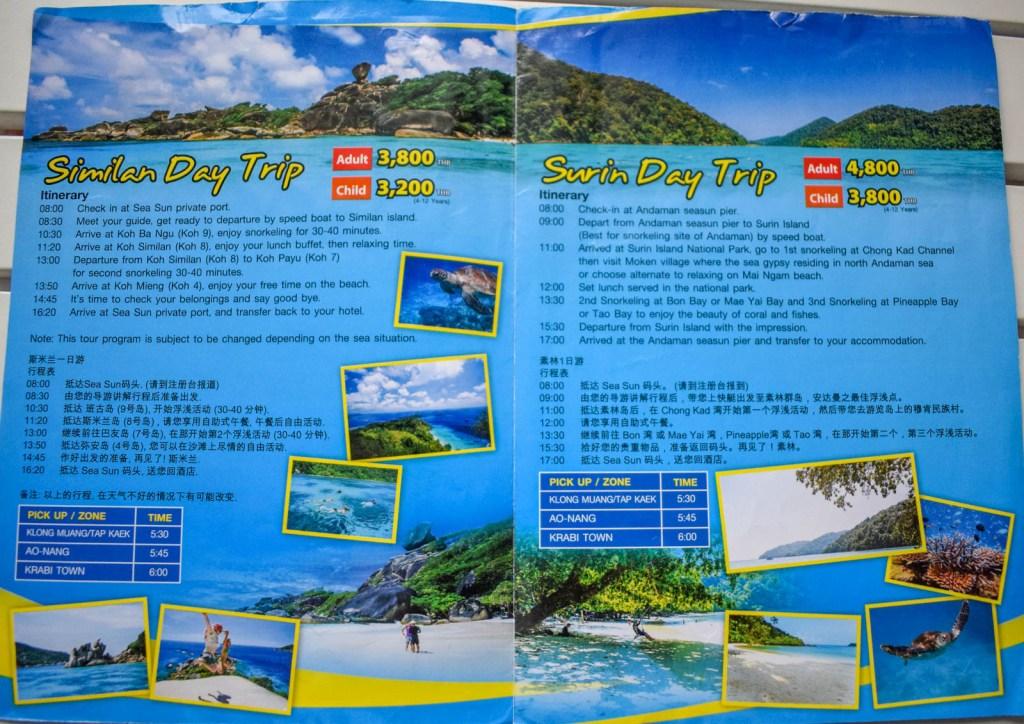 Excursii pe insulele din Krabi
