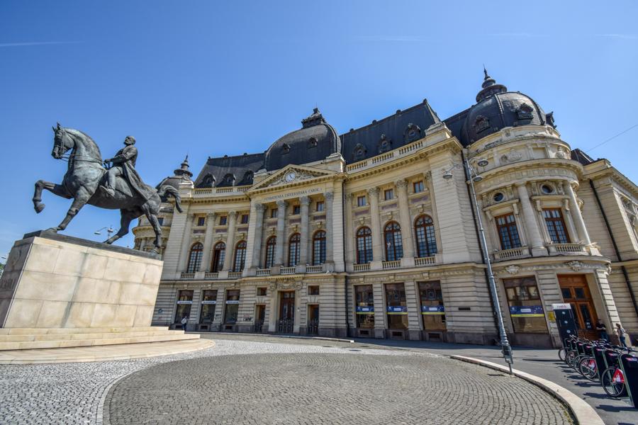 La pas pe Calea Victoriei - obiective în București - Biblioteca Centrală Universitară