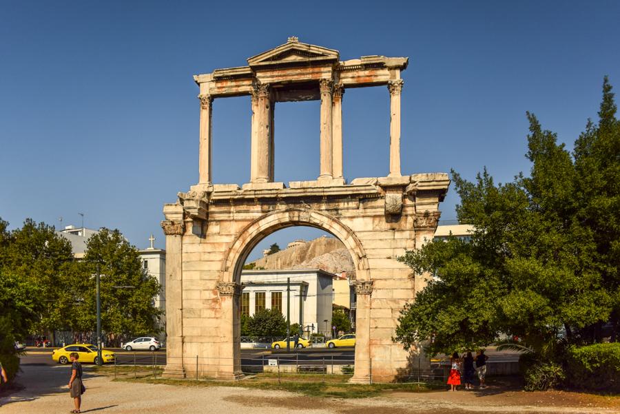 Obiective în Atena - Arcul lui Hadrian
