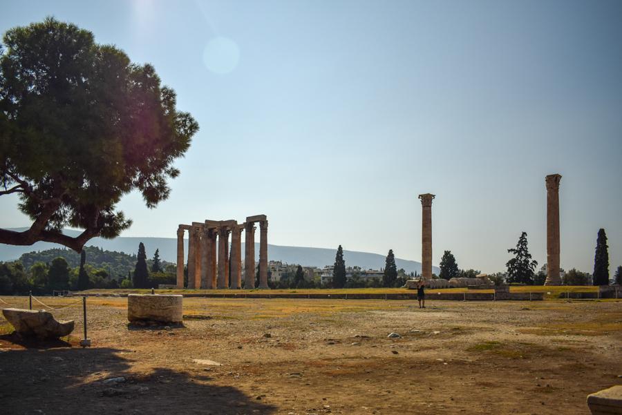 Obiective în Atena - Templul lui Zeus Olimpianul